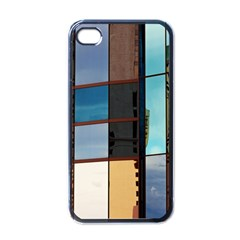 Glass Facade Colorful Architecture Apple Iphone 4 Case (black)