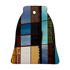 Glass Facade Colorful Architecture Bell Ornament (Two Sides)