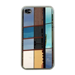 Glass Facade Colorful Architecture Apple iPhone 4 Case (Clear)