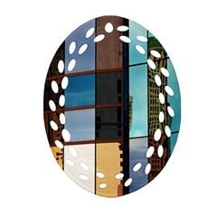 Glass Facade Colorful Architecture Ornament (Oval Filigree)