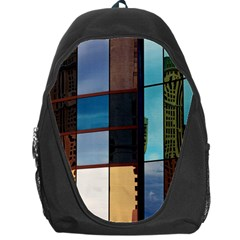 Glass Facade Colorful Architecture Backpack Bag