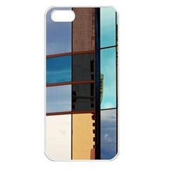 Glass Facade Colorful Architecture Apple Iphone 5 Seamless Case (white)