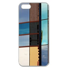 Glass Facade Colorful Architecture Apple Seamless iPhone 5 Case (Clear)