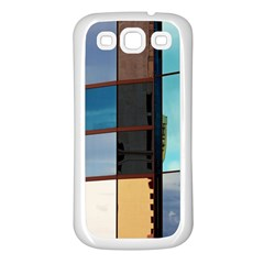 Glass Facade Colorful Architecture Samsung Galaxy S3 Back Case (white)
