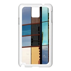 Glass Facade Colorful Architecture Samsung Galaxy Note 3 N9005 Case (white)