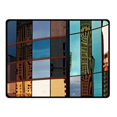 Glass Facade Colorful Architecture Double Sided Fleece Blanket (small)