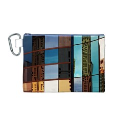 Glass Facade Colorful Architecture Canvas Cosmetic Bag (m)