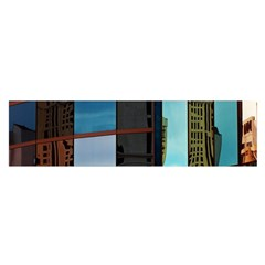 Glass Facade Colorful Architecture Satin Scarf (oblong)
