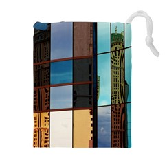 Glass Facade Colorful Architecture Drawstring Pouches (extra Large)