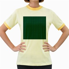 Golf Golfer Background Silhouette Women s Fitted Ringer T-Shirts