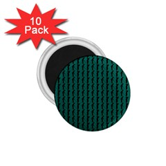 Golf Golfer Background Silhouette 1.75  Magnets (10 pack)