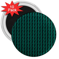 Golf Golfer Background Silhouette 3  Magnets (10 pack)