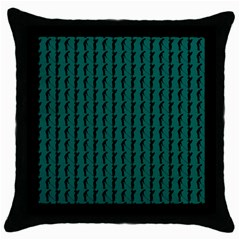 Golf Golfer Background Silhouette Throw Pillow Case (black)