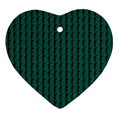 Golf Golfer Background Silhouette Heart Ornament (Two Sides)