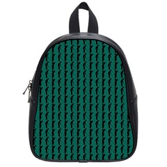 Golf Golfer Background Silhouette School Bags (Small)