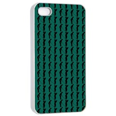 Golf Golfer Background Silhouette Apple iPhone 4/4s Seamless Case (White)