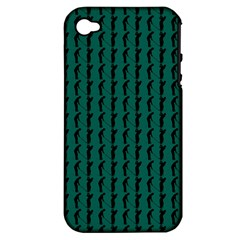 Golf Golfer Background Silhouette Apple iPhone 4/4S Hardshell Case (PC+Silicone)