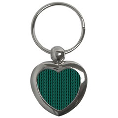 Golf Golfer Background Silhouette Key Chains (Heart)