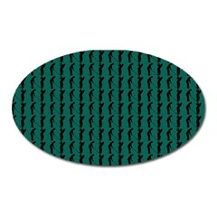Golf Golfer Background Silhouette Oval Magnet