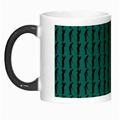 Golf Golfer Background Silhouette Morph Mugs