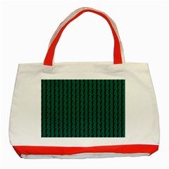 Golf Golfer Background Silhouette Classic Tote Bag (Red)