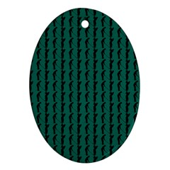 Golf Golfer Background Silhouette Oval Ornament (Two Sides)