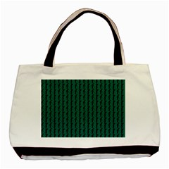 Golf Golfer Background Silhouette Basic Tote Bag (Two Sides)