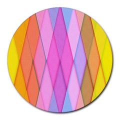 Graphics Colorful Color Wallpaper Round Mousepads