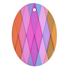 Graphics Colorful Color Wallpaper Ornament (Oval)