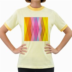 Graphics Colorful Color Wallpaper Women s Fitted Ringer T Shirts