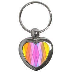 Graphics Colorful Color Wallpaper Key Chains (Heart)