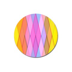 Graphics Colorful Color Wallpaper Magnet 3  (Round)