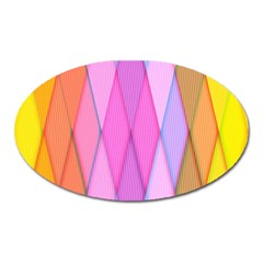 Graphics Colorful Color Wallpaper Oval Magnet