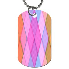 Graphics Colorful Color Wallpaper Dog Tag (One Side)