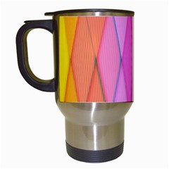 Graphics Colorful Color Wallpaper Travel Mugs (White)