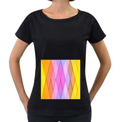Graphics Colorful Color Wallpaper Women s Loose-Fit T-Shirt (Black)