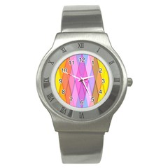 Graphics Colorful Color Wallpaper Stainless Steel Watch