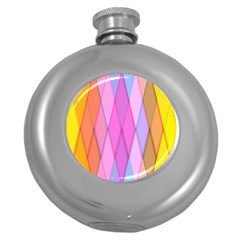 Graphics Colorful Color Wallpaper Round Hip Flask (5 oz)