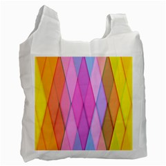 Graphics Colorful Color Wallpaper Recycle Bag (Two Side)