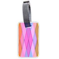 Graphics Colorful Color Wallpaper Luggage Tags (two Sides)