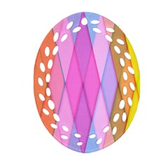 Graphics Colorful Color Wallpaper Oval Filigree Ornament (Two Sides)