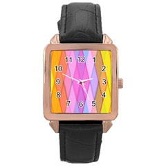 Graphics Colorful Color Wallpaper Rose Gold Leather Watch