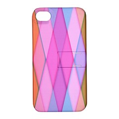 Graphics Colorful Color Wallpaper Apple iPhone 4/4S Hardshell Case with Stand