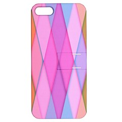 Graphics Colorful Color Wallpaper Apple iPhone 5 Hardshell Case with Stand