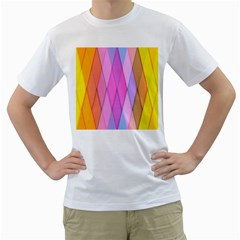 Graphics Colorful Color Wallpaper Men s T Shirt (white)