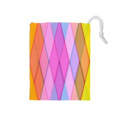 Graphics Colorful Color Wallpaper Drawstring Pouches (medium)