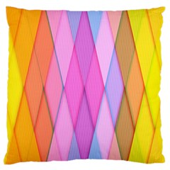 Graphics Colorful Color Wallpaper Large Flano Cushion Case (one Side)