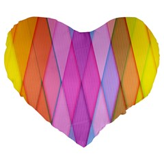 Graphics Colorful Color Wallpaper Large 19  Premium Flano Heart Shape Cushions