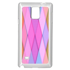 Graphics Colorful Color Wallpaper Samsung Galaxy Note 4 Case (White)