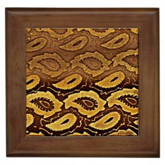 Golden Patterned Paper Framed Tiles
